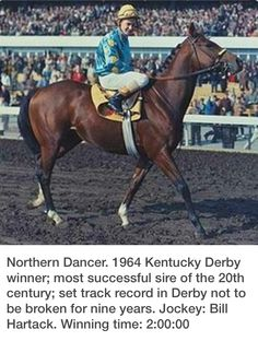 Northern Dancer - only one horse can claim a Derby UNDER 2:00 minutes.  Secretariut, with a time of ?