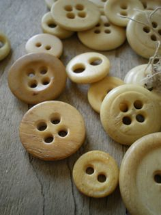 Look for old wooden buttons, oh the sweaters I've already discarded, weep