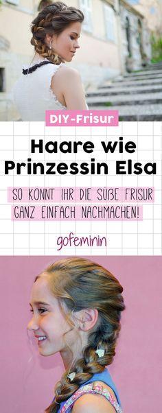Eure Tochter ist verrückt nach der Frisur von Prinzessin Elsa? Mit dieser Anleitung könnt ihr den süßen Bauernzopf ganz einfach nachmachen!