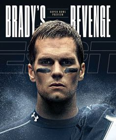 Tom Brady is on the cover of ESPN The Magazine's Super Bowl Preview issue. (via NFL on ESPN)
