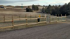 Large fenced in dog run where you can let your pet of their leash to run around to burn off some energy.