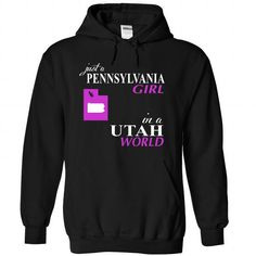 PENNSYLVANIA GIRL IN an UTAH WORLD T-Shirts, Hoodies, Sweatshirts, Tee Shirts (39$ ==► Shopping Now!)