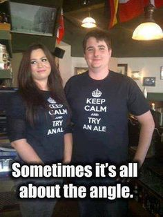 Dirty beer humor...