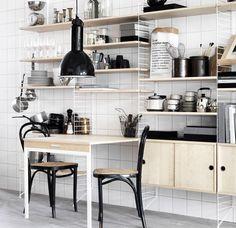 Rangement cuisine déco : mural, pratique... - Côté Maison                                                                                                                                                                                 Plus