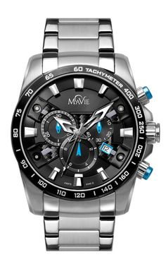 An exceptional analog quartz Swiss chronograph bracelet timepiece for men that combines quality, functionality and durability for a powerful look. Made with surgical quality stainless steel, genuine s