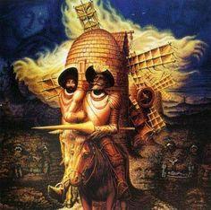 Cuadro de El Quijote que se basa en el uso de uno de los principios de La Gestalt