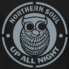 UP ALL NIGHT OWL NORTHERN SOUL NORTHERN SOUL PATCH RED