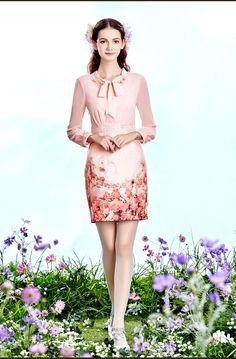 Jane Siwei Ni vestido de la impresión femenina 2016 nueva ola de elegancia retro…