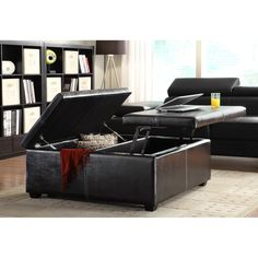 corbett linen coffee table storage ottoman storage ottomans at for the home in. Black Bedroom Furniture Sets. Home Design Ideas