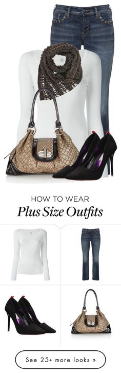 """Untitled #13308"" by nanette-253 on Polyvore featuring Silver Jeans Co., Petit Bateau and Wallis"