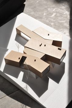 Architectural models · the house is located in a five hectare hilly property on the outskirts of évora partly Maquette Architecture, Architecture Design, Architecture Graphics, Concept Architecture, Architecture Drawings, Cultural Architecture, Logo And Identity, Presentation Layout, Architectural Presentation