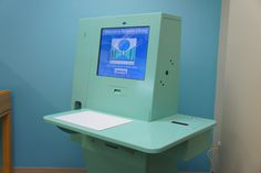 Matteson Library's pale cyan serveIT e-series system from D-Tech International.