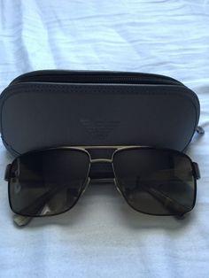 4acfbbbbb36 Emporio Armani Polarized Plastic Frame Sunglasses for Men
