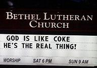 God is like Coke - The Real Thing