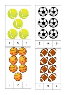 Sports Theme Count and Clip Cards! by PreK Printables Shop Daycare Themes, Preschool Themes, Preschool Learning, Math Activities, Toddler Activities, Preschool Activities, Teaching, Sports Theme Classroom, Sport Craft