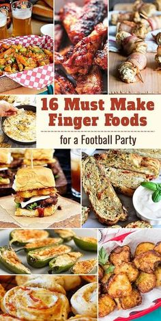 16 Must Make Finger Foods for a Football Party – Parade Finger Food Appetizers, Yummy Appetizers, Appetizers For Party, Appetizer Recipes, Finger Foods For Party, Fall Finger Foods, Party Recipes, Football Party Foods, Tailgate Party Foods