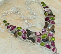 Exotic Harmony Multistone Sterling Silver necklace