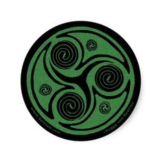 Celtic art stickers with a triskel spiral design! Buy these fun Celtic art stickers with cool triskel spiral designs and start getting creative! These original Celtic spiral artwork stickers by Peggy von Burkleo have a triskel Celtic spiral design in green and black. These Celtic spiral art stickers are a perfect gift for people who love Celtic artwork! A great way to stick some Celtic flair to cards, notebooks, ipods, cell phones, laptops or wherever you want to add some Celtic designs…