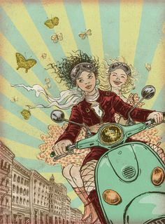 Yuko Shimizu (NYC) #Illustrator #Vespa #Scooter