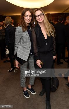 Lady Violet Manners and Daisy De Villeneuve attend Keiichi Matsuda's Hyper Reality Cocktail Reception Hosted By Bvlgari at Bvlgari Hotel London on...