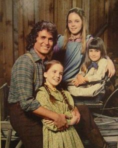Pa Ingalls and his girls.