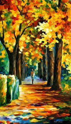 Morning Alley - Leonid Afremov