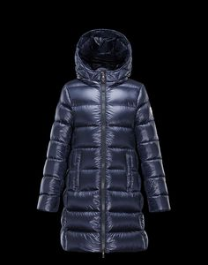 Ireland Kids Moncler Suyen Down Parka Dark Blue