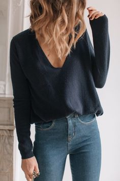 Awesome 44 Amazing High Wasted Jeans Ideas Trending Now Fashion Mode, Look Fashion, Urban Fashion, Girl Fashion, Autumn Fashion, Fashion Outfits, Lifestyle Fashion, Woman Outfits, Womens Fashion