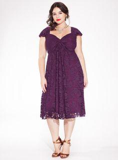 Rachelle Lace Dress in Plum