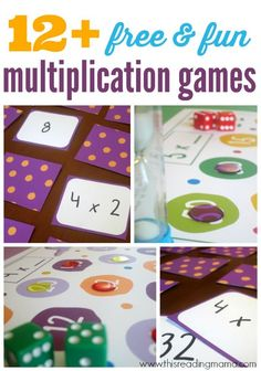 Great alternatives to flash cards! Love these fun ways to practice multiplication facts. Great alternatives to flash cards! Love these fun ways to practice multiplication facts. Math Tutor, Teaching Math, Math Education, Maths Tuition, Multiplication Games For Kids, Multiplication Tables, Multiplication Strategies, Math Fractions, Multiplication Flash Cards