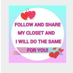 "Share for a Share!!!!!!!!! My fellow poshers let's share :) share this post along with 3 other posts of mine and comment ""done"" and I will return the love and share 4 posts from your closet!!!!! Who doesn't love to share :)  Other"