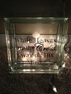 glass block decorating ideas for motheru0027s day | Personalized LIGHTED GLASS BLOCK Godu0027s ... | Decorative glass blocks | CREATIONS FOR ALL OCCASIONS ... & glass block decorating ideas for motheru0027s day | Personalized LIGHTED ...