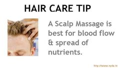 Simple Hair Care tip : SCALP MASSAGE.