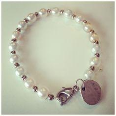 DIY pearl charm bracelet
