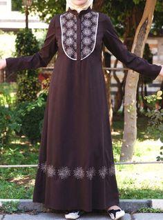 Intisar Embroidered Dress via www.ShukrClothing.com