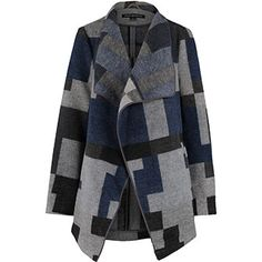 Navy & Grey Lapel Coat Tk Maxx, French Connection, Handbag Accessories, Navy, Clothes For Women, Coat, Sweaters, Fashion, Hale Navy