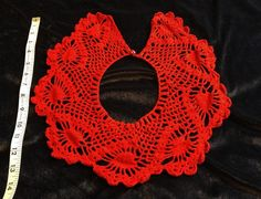 1960s Crochet scalloped women's Bib crocheted Collar Lace Red Vintage handmade | Clothing, Shoes & Accessories, Vintage, Vintage Accessories | eBay!