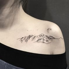 Beautiful Mountain Tattoos For Women
