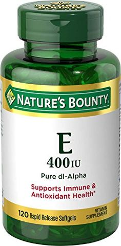 Natures Bounty Vitamin E 400 IU Pure dlAlpha 120 Softgels Pack of 3 *** Visit the image link more details.