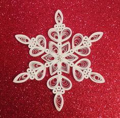 Quilled Paper Snowflake Paper Filigree by HennyPennyCollection
