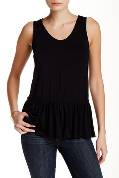 WEST KEI - Knit Peplum Tank at Nordstrom Rack. Free Shipping on orders over $100.