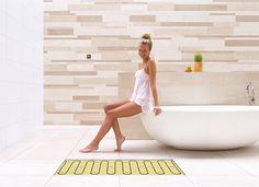 Elektrische vloerverwarming van Magnum is extra comfortabel in de badkamer, energiezuinig, geeft snel gelijkmatige warmte af en de vloer droogt snel op.