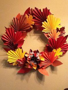 fanfold leaf wreath