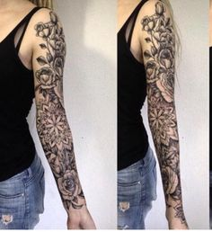 Chic Sleeve Tattoo Ideas For Girls Tattoo Designs Pinterest