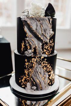 Elegant Birthday Cakes, Pretty Birthday Cakes, Pretty Cakes, Cute Cakes, Elegant Cakes, Beautiful Wedding Cakes, Beautiful Cakes, Amazing Cakes, Black Wedding Cakes