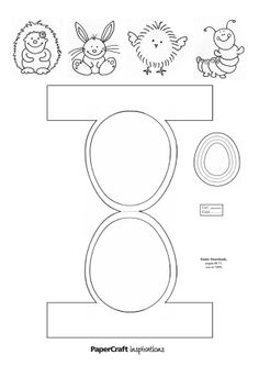 paper crafts templates | Download your Easter decorations templates! | Papercraft Inspirations