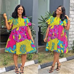 African Fashion Style 2019 : Beautiful collection of Ankara Aso Ebi To Wow This Season African Fashion Ankara, Latest African Fashion Dresses, African Print Dresses, African Print Fashion, African Dress, Women's Fashion Dresses, African Prints, Native Fashion, Ankara Styles For Women