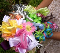 diy ribbon bouquet for wedding rehearsal ribbonscom bow bouquet bride bouquets