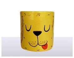 ceramic hand painted mug with Labrador  by KatSpreadburyDesigns, £10.99