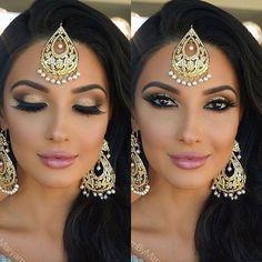 Amazing Wedding Makeup Tips – Makeup Design Ideas Indian Makeup Saree, Indian Wedding Makeup, Wedding Makeup For Brown Eyes, Wedding Makeup Tips, Natural Wedding Makeup, Wedding Makeup Looks, Bride Makeup, Natural Makeup, Indian Makeup Looks